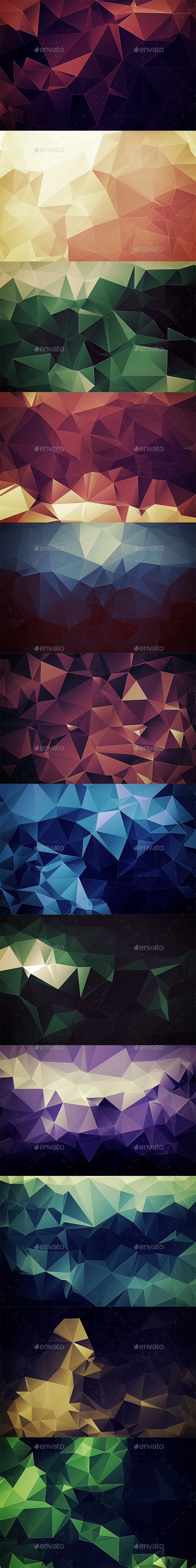 Abstract Polygonal Backgrounds Vol4