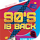 90's is back 2 Flyer Template
