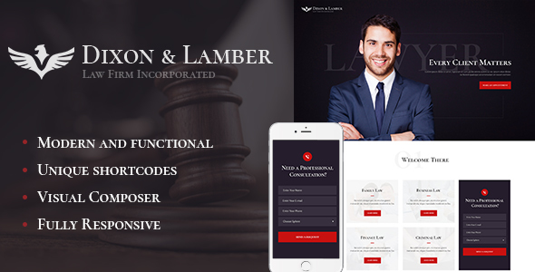 Download Dixon & Lamber | Law Firm WP Theme