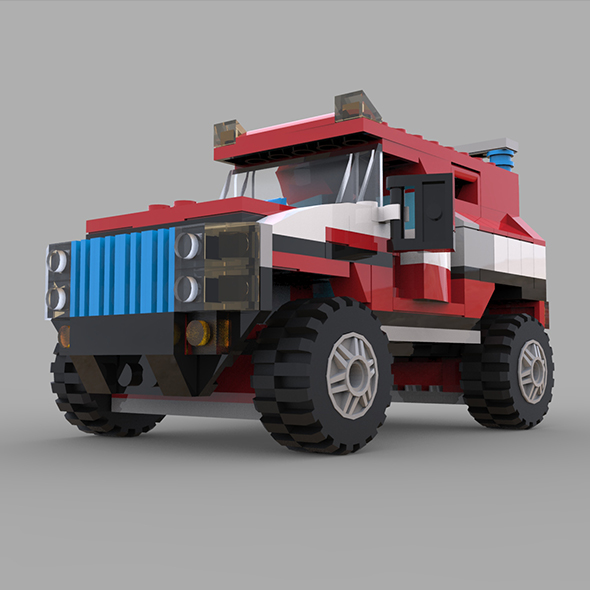 Jeep lego - 3DOcean Item for Sale