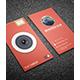 Flat Camera Business Card