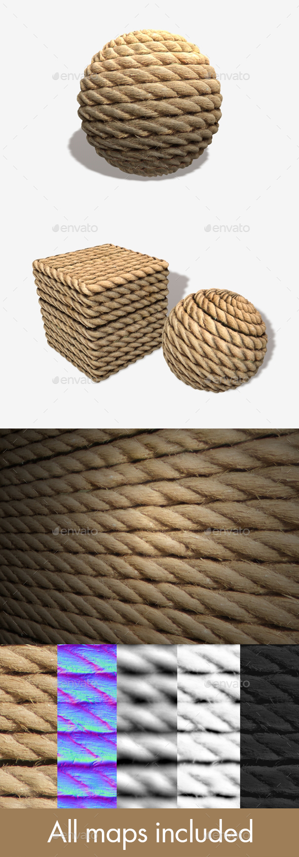 Wrapped Rope Seamless Texture - 3DOcean Item for Sale