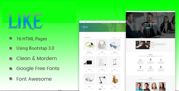 Download Like - HTML5 Corporate  Responsive Template