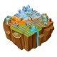Isometric Mining Game Island Template
