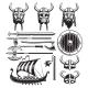Vintage Viking Elements Set