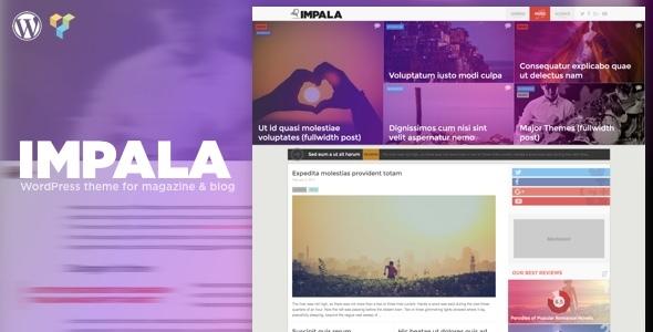 Impala - Colorful WordPress theme for Magazine and Blog
