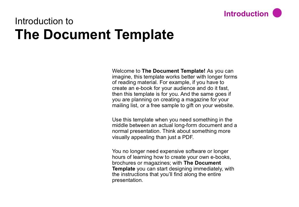The Document Template by SlideStudioCo – Sample Book Document