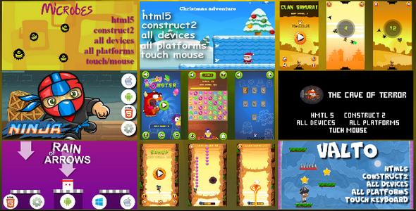 Download HTML5 9 GAMES BUNDLE №2 (CAPX)