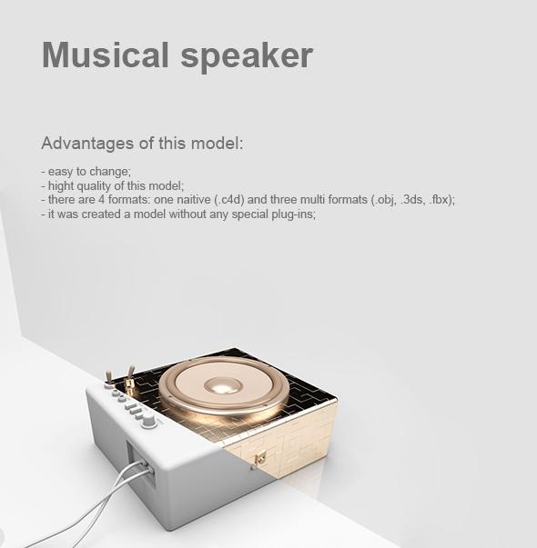 3DOcean Musical speaker 19425420