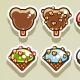 Set of 2D Ice Creams