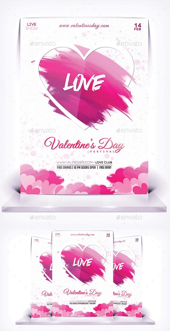 Love Valentines Day Flyer