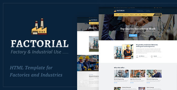 Factorial – Business And Factory HTML Template (Organization)