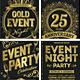 Gold Event Flyers Set