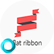 Animated Flat Ribbon