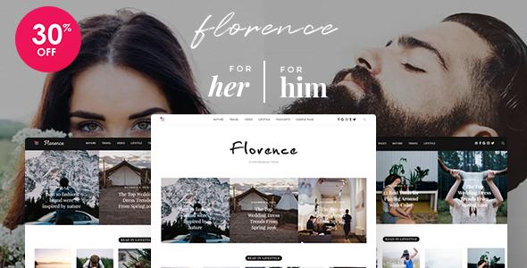 Florence – A Vivid WordPress Theme For Him and Her (Personal) Download
