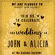 Golden Wedding Invitation Card