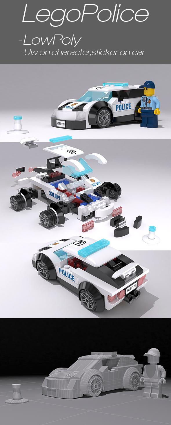 LegoPolice - 3DOcean Item for Sale