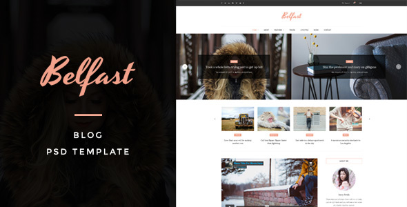 Belfast - Blog PSD Template