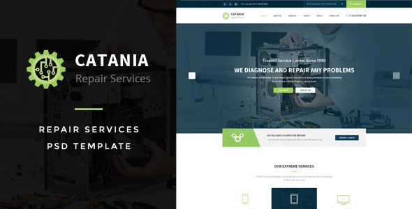 Catania - Computer Repairs PSD Template