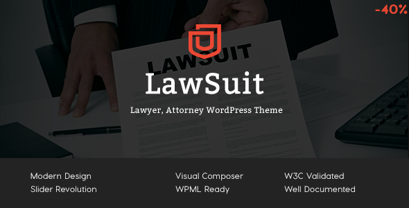 Download LawSuit - Lawyer, Attorney, Law Agency WordPress Theme