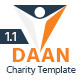 DAAN - Charity Non-Profit PSD Template