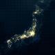 Japan Map Night Lighting Rollback 4K