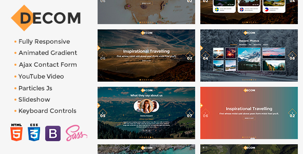 Decom – Contemporary Travelling Bootstrap Template (Travel)
