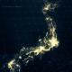 Japan Map at Night 4K