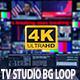 4K TV Studio Background Loop