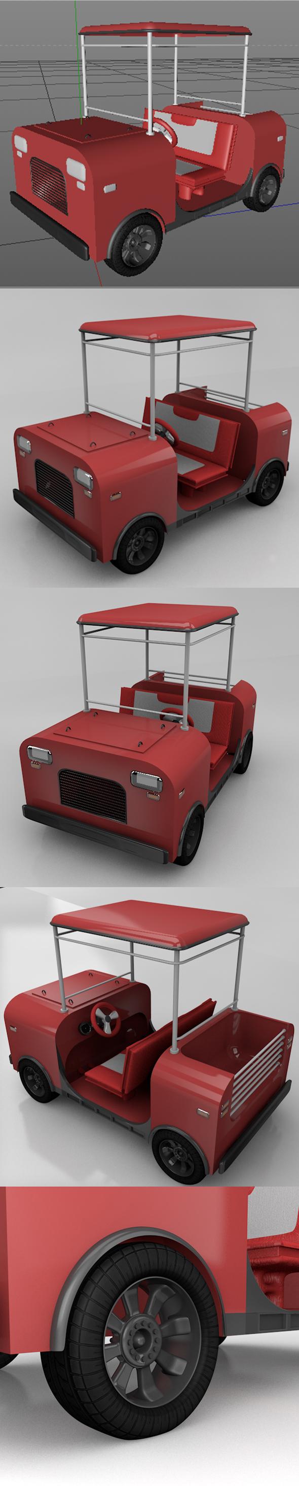 golf car - 3DOcean Item for Sale