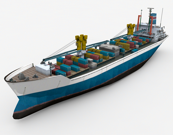 Cargo Ship 2 - 3DOcean Item for Sale