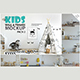 Kids Wall & Frames Mockup Pack - 2