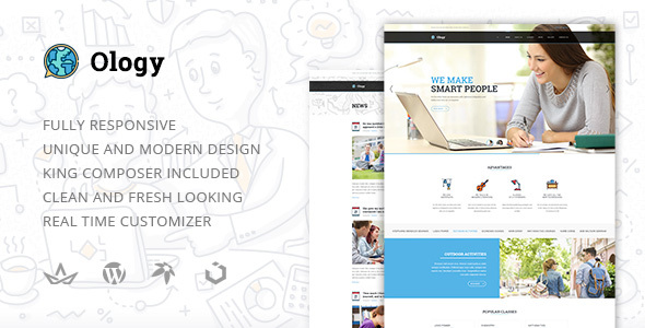 Ology — Education | Courses | Classes for Primary, Secondary & High School Education WordPress Theme