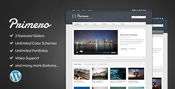 ThemeForest Primero Video WordPress Theme 1468308