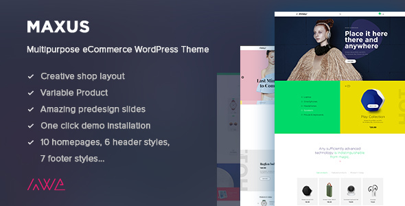 Maxus - Multipurpose eCommerce WordPress Theme