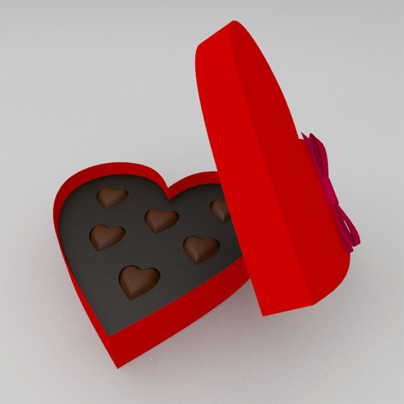 3DOcean St.Valentine's gift heart shaped box of candy 19429608