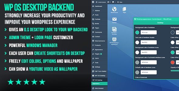 WP OS Desktop Backend – More than a WordPress Admin Theme
