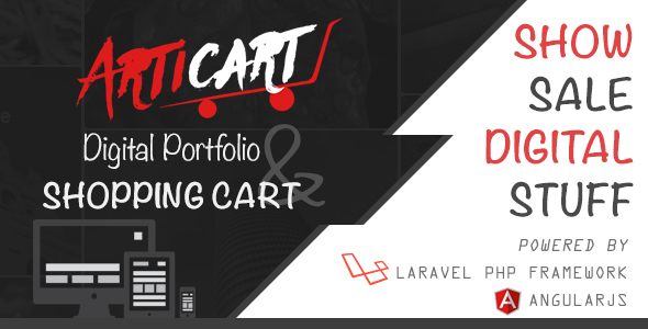 Articart - Digital Portfolio Website and Shopping Cart