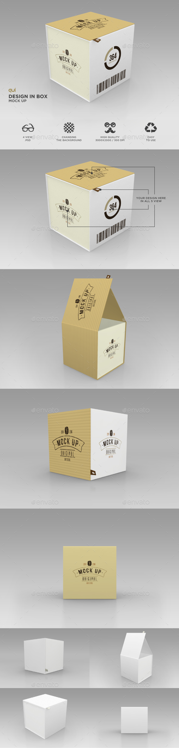 Package Box Mock Up