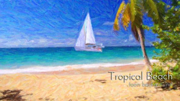 VideoHive Tropical Sandy Beach Animation 19430946