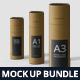 Slim Paper Tube Mockup Bundle