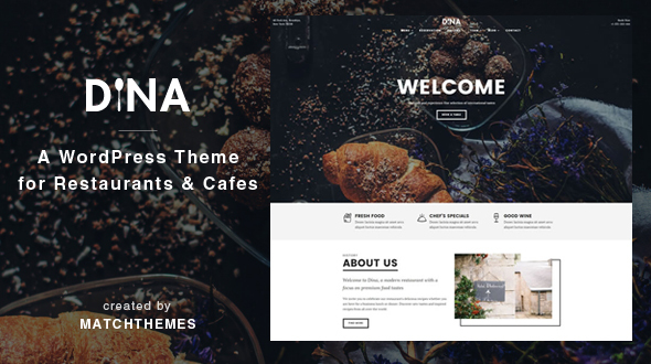 Dina - Restaurant, Bar, Cafe, Food WordPress Theme