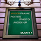 Wood Frame Photo/Poster Mock-up