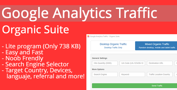 Google Analytics Traffic - Organic Suite - CodeCanyon Item for Sale
