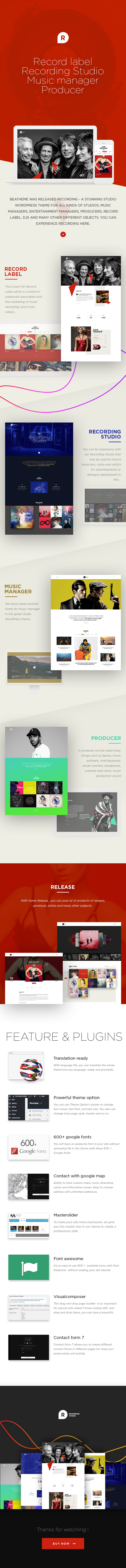 Google themes create your own -  Recording Studio Music Manager Producer 2 Home Page Layout About Page Producer And Subscriber Translation Ready Powerful Theme Option 600 Google