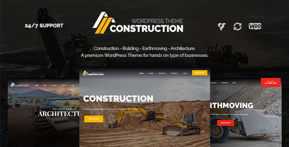 Construction – Construction WordPress Theme for Construction, Building & Construction Companies (Business) Download