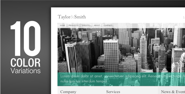 ThemeForest Corporate A clean business template 73803