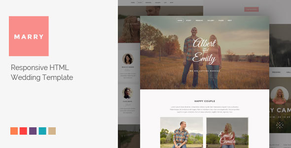 Marry - Responsive HTML Wedding Template