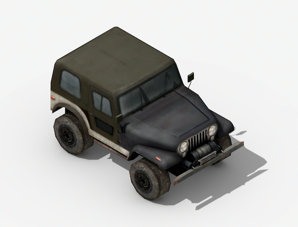 Jeep Low Poly - 3DOcean Item for Sale