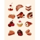 Vector Set of Decorative Icons Sweets